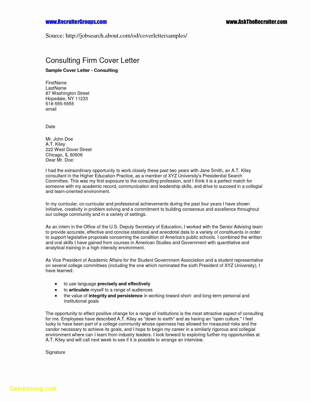 Cfo Cover Letter Template - Cfo Resume Templates Elegant Resume and Cover Letter Template