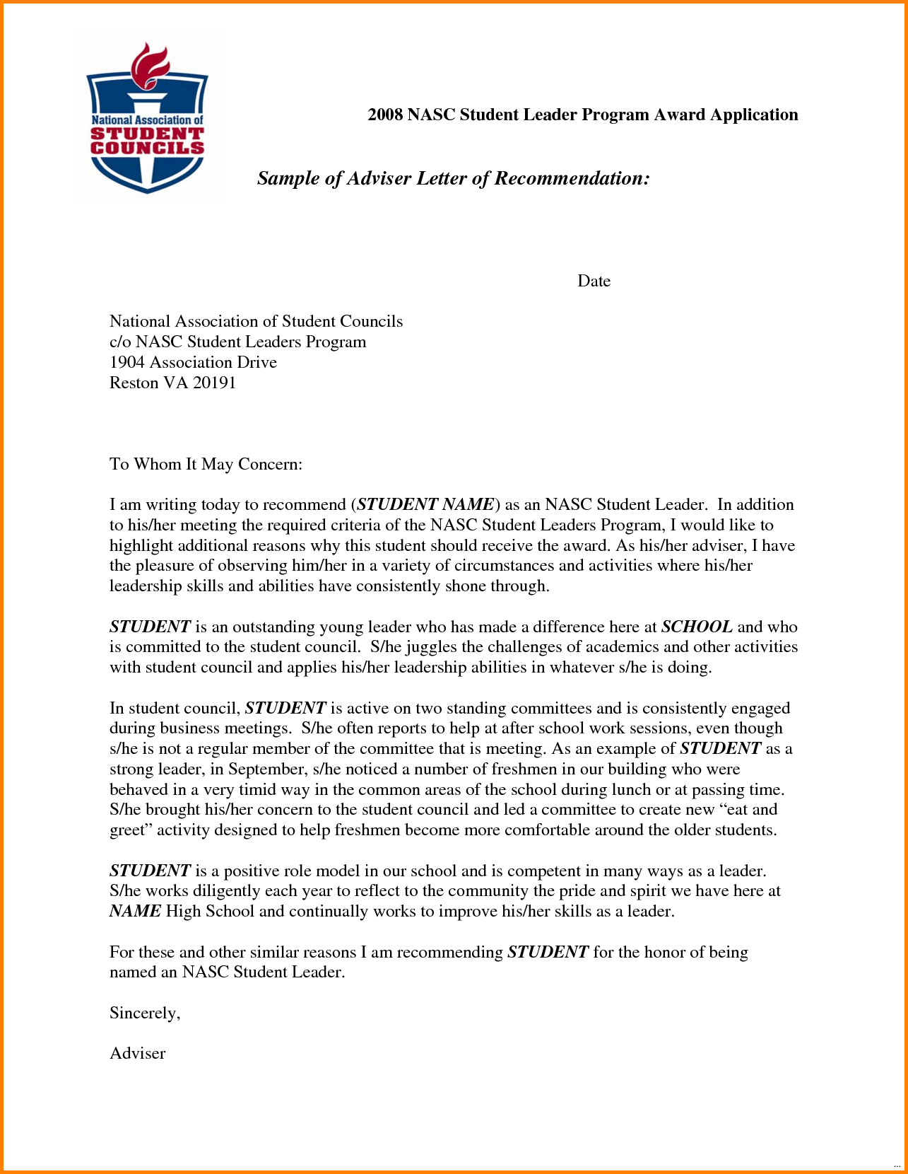 Scholarship Letter Of Recommendation Template - Character Reference Letter Scholarship Letter format formal