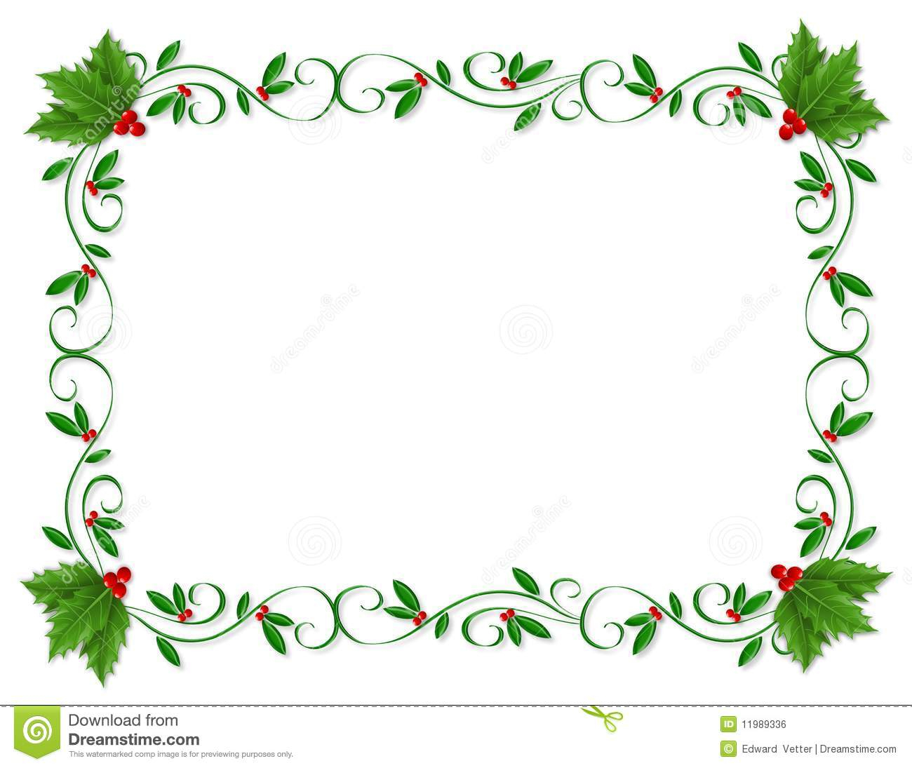 Christmas Letter Border Template Collection Letter Cover Templates