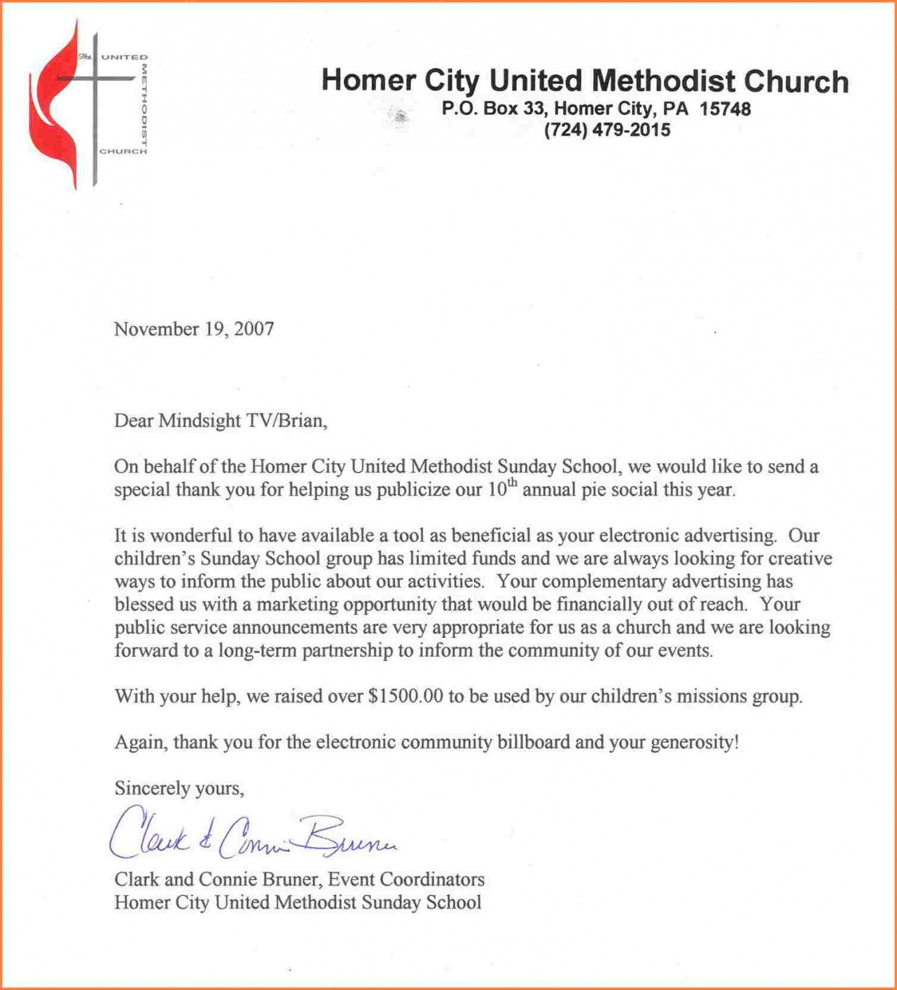 Donation Letter Template for Church - Church Donation Letter Samples Beautiful Thank You Letter for