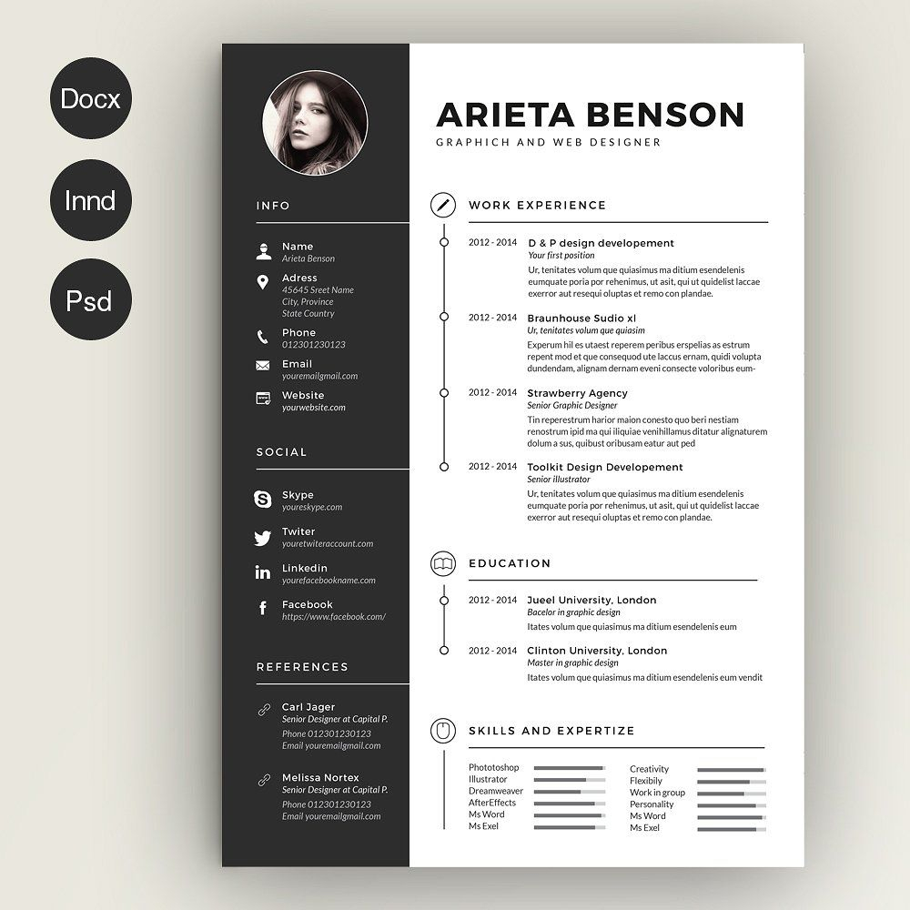 Creative Cover Letter Template Free Download - Clean Cv Resume Cover Letter Template Template and Infographic Free