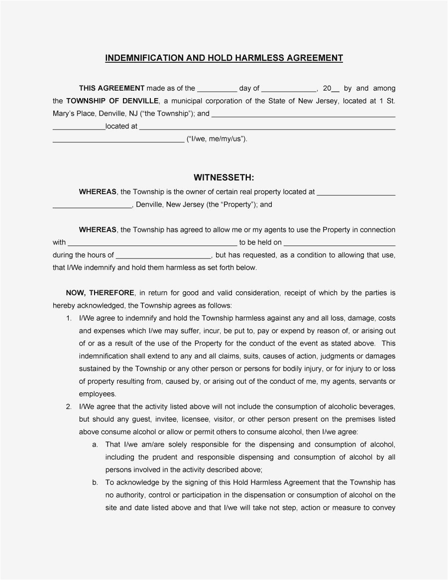 hold harmless letter template Collection-New Cohabitation Agreement Download 20-h