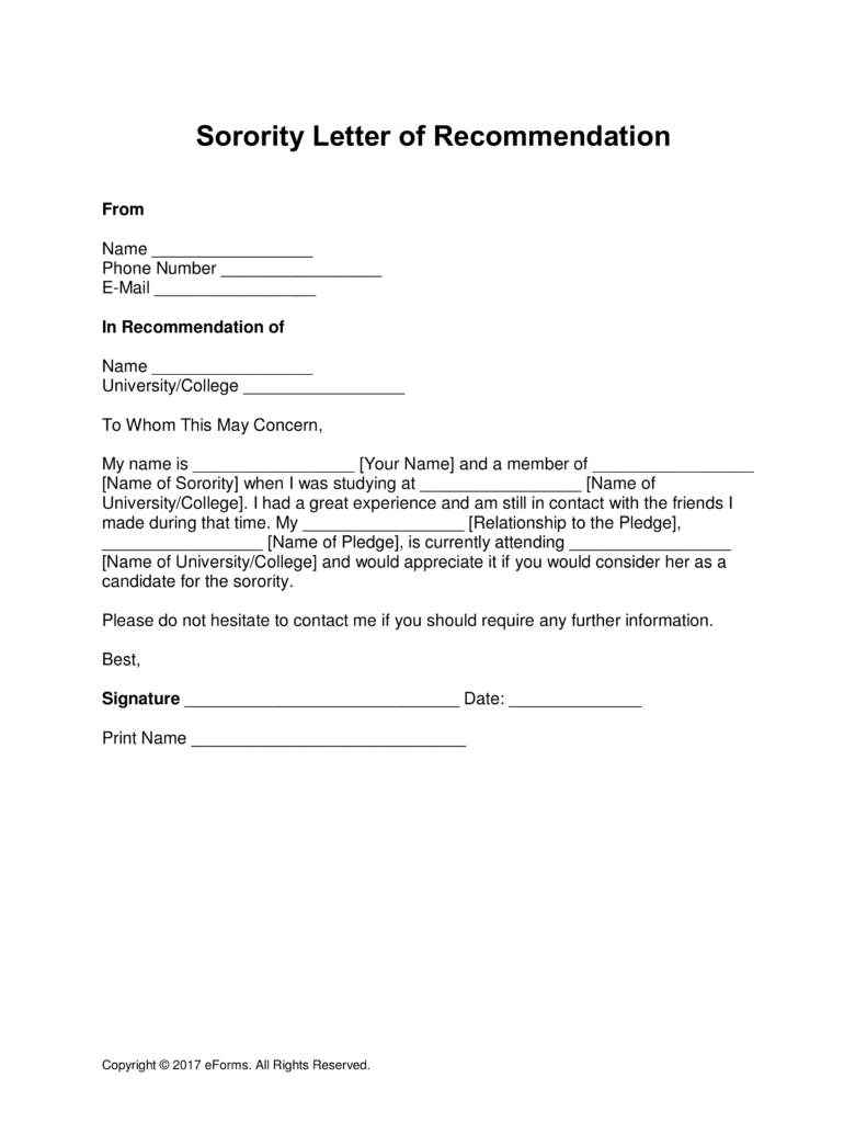 alumni letter of recommendation template Collection-Collegeation Letter From Alumni Examples Sorority Template 791—1024 Free 12-e