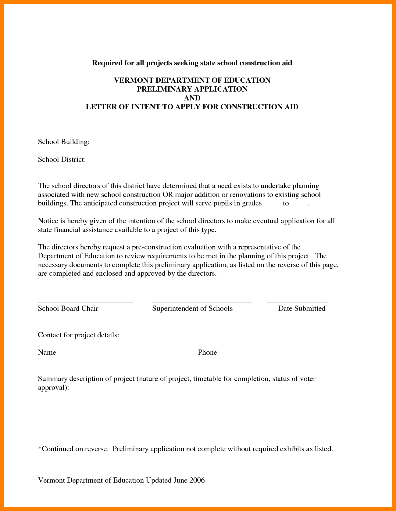 Subcontractor Letter Of Intent Template - Constructionr Intent Template Design Award Retail Resumes