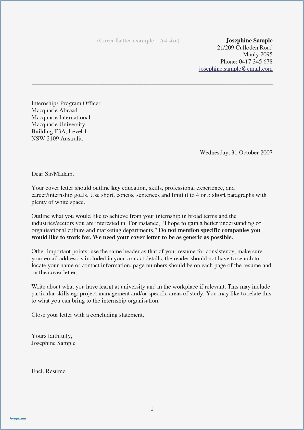 Ema Cover Letter Template Samples