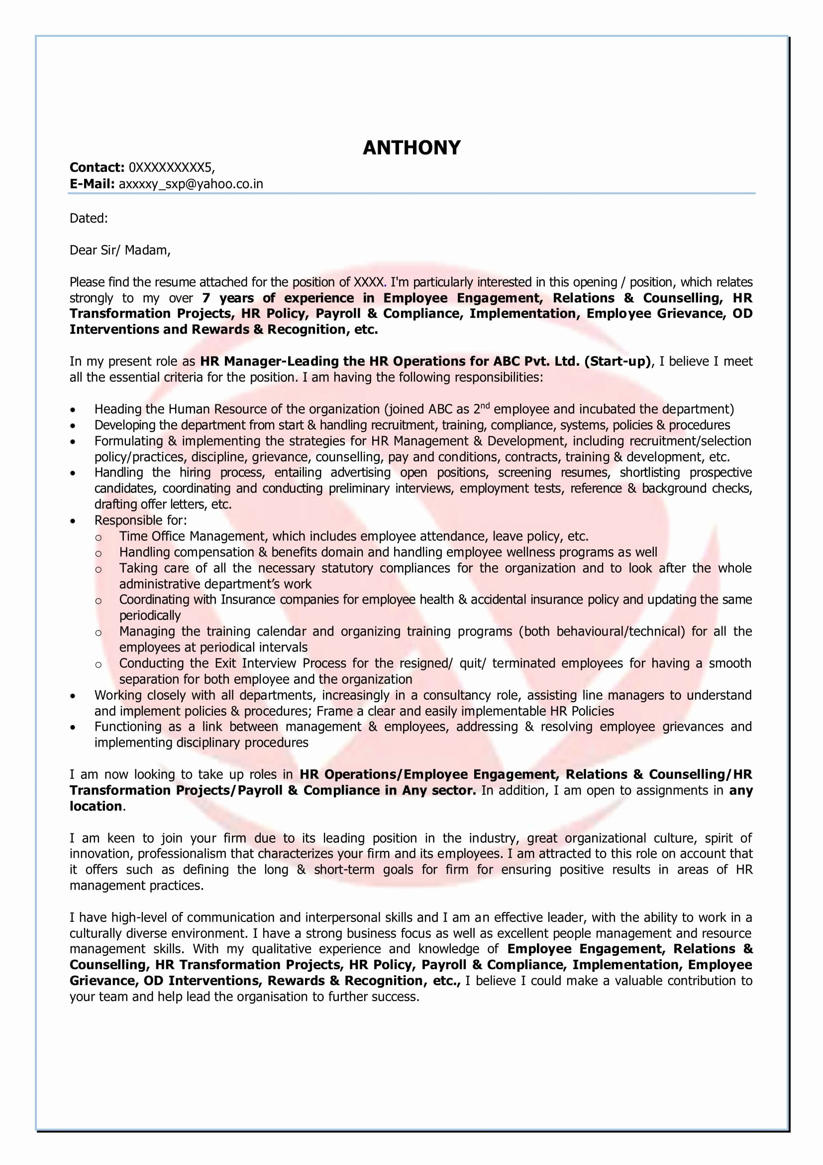 Relocation Cover Letter Template - Cover Letter Willing to Relocate Sample Awesome Job Application