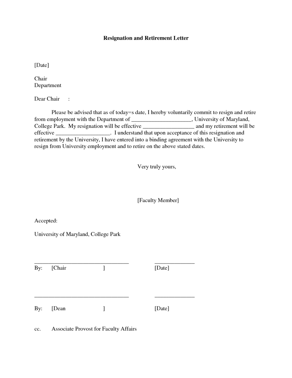 Retirement Resignation Letter Template Free - Coverr Very Simple Retirement Resignation Example for Teacher Sample