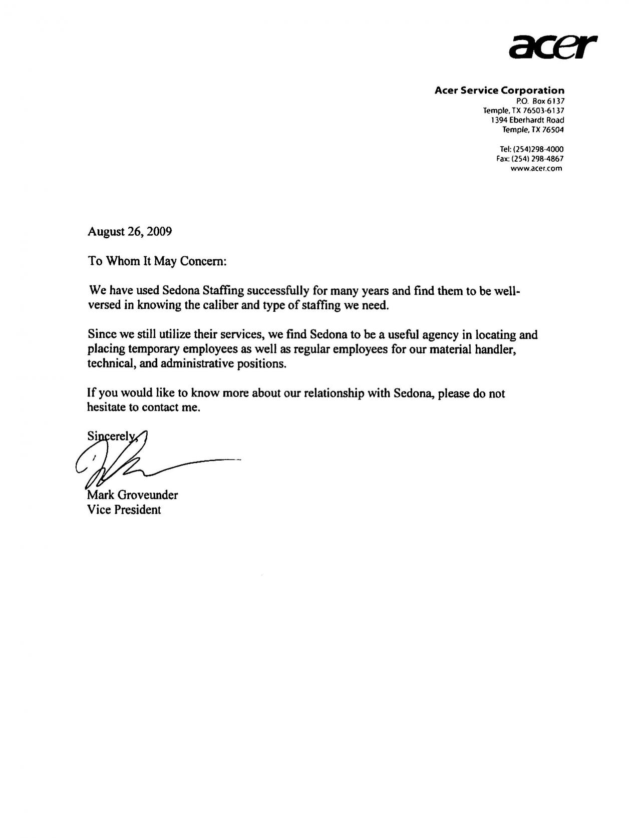 Customer Reference Letter Template - Customer Reference Letter Image Collections Letter format formal
