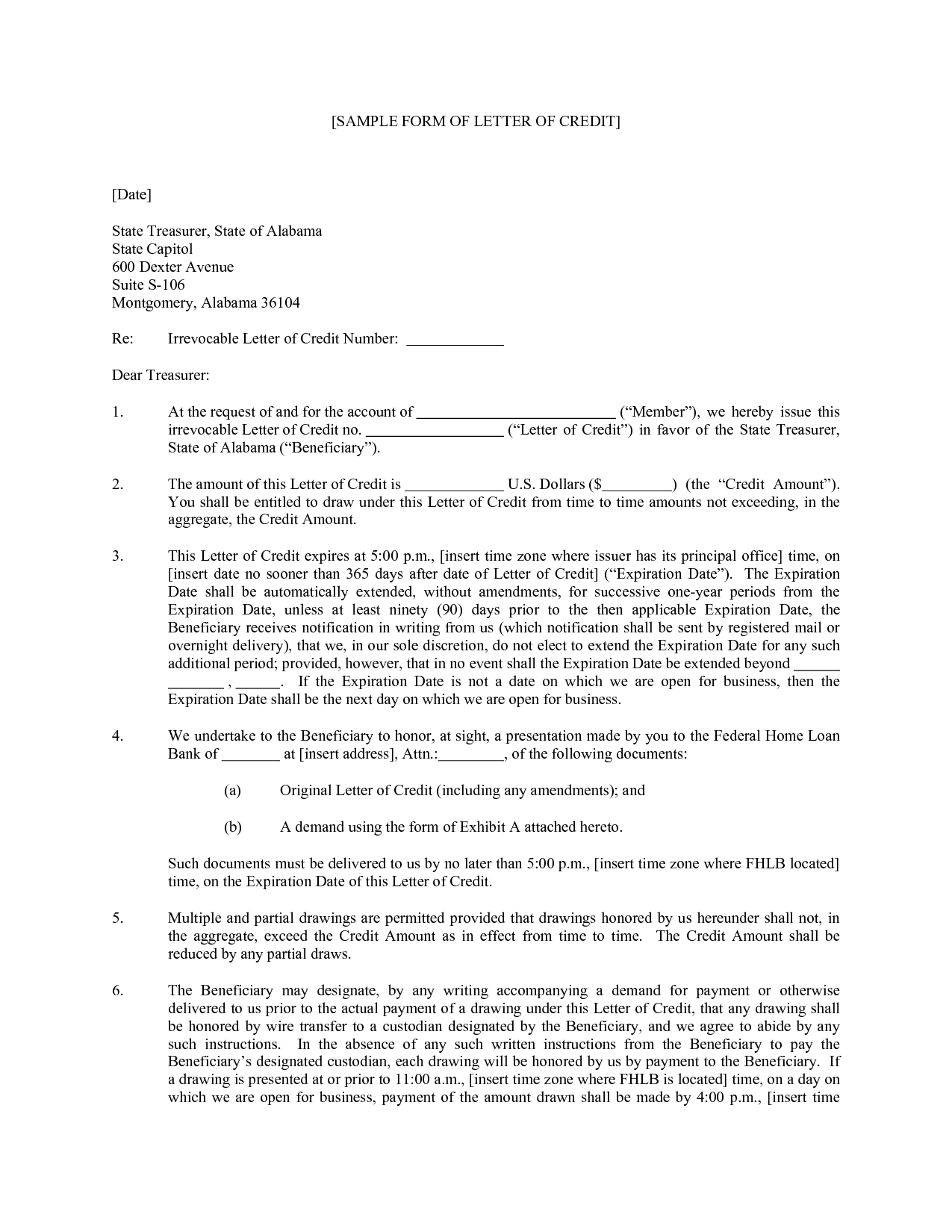 Irrevocable Letter Of Credit Template - Definition Of Credit Information Bureau Cib Process How to