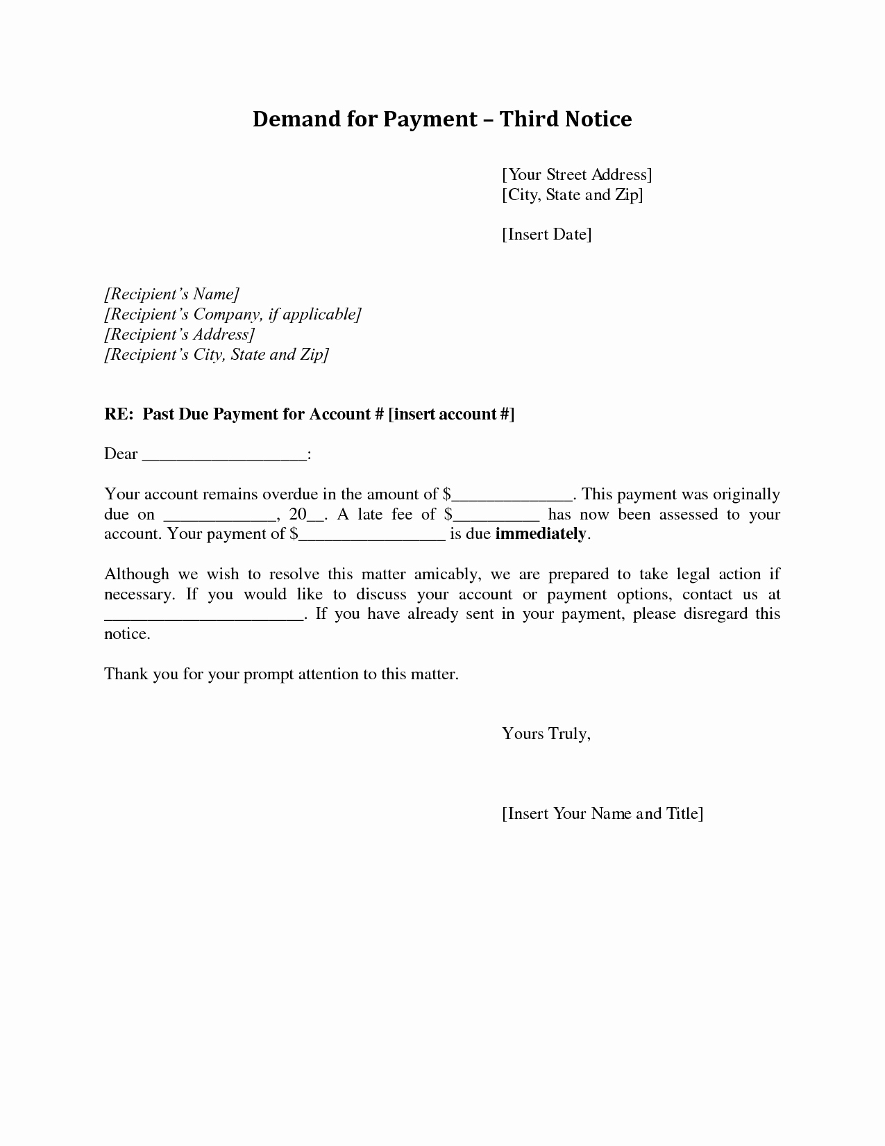 Final Notice before Legal Action Letter Template Uk - Demand Letter Sample for Payment Fresh 20 New Payment Demand Letter