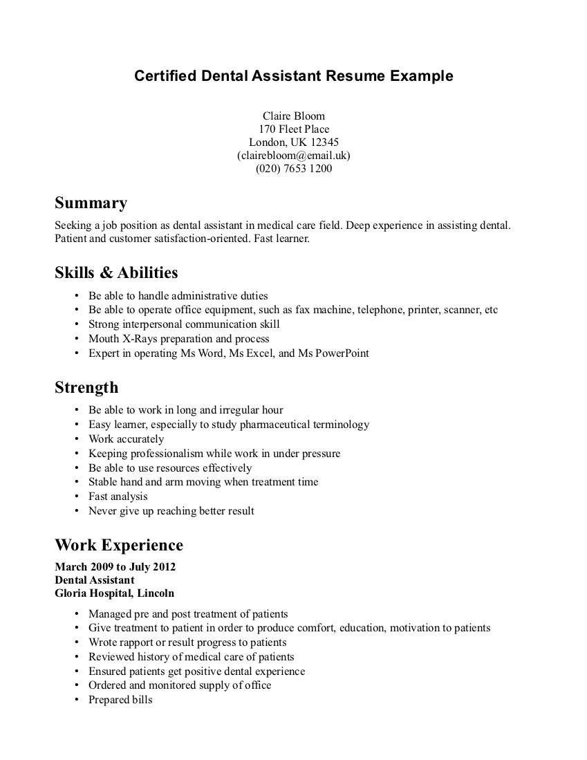 Dental Recall Letter Template - Dental Resume Examples solarfm
