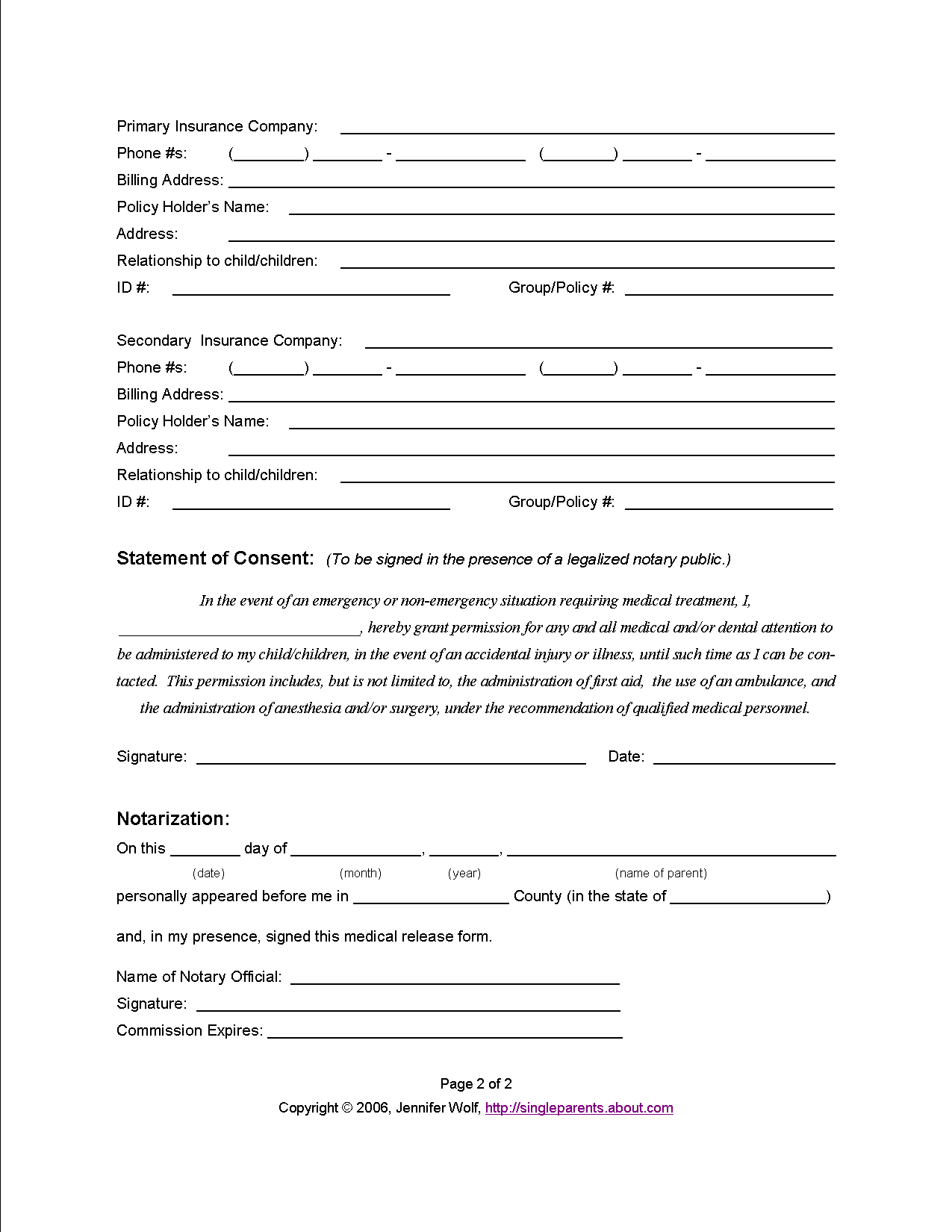 Medical Release Letter Template - Do You Have A Medical Release form for Your Kids