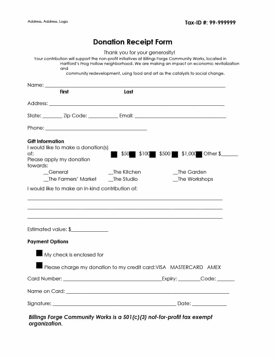 Non Profit Tax Deduction Letter Template - Donation Receipt for Tax Purposes Acurnamedia