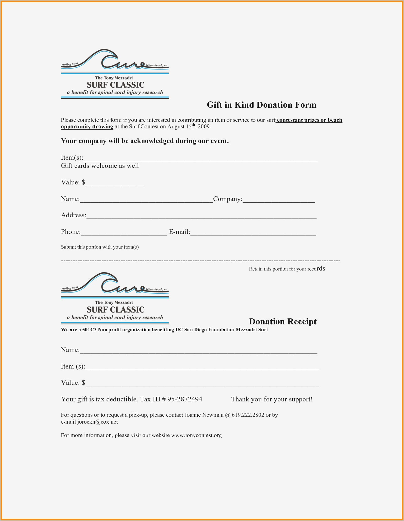 Charitable Donation Receipt Letter Template - Donation Receipt Letter Samples