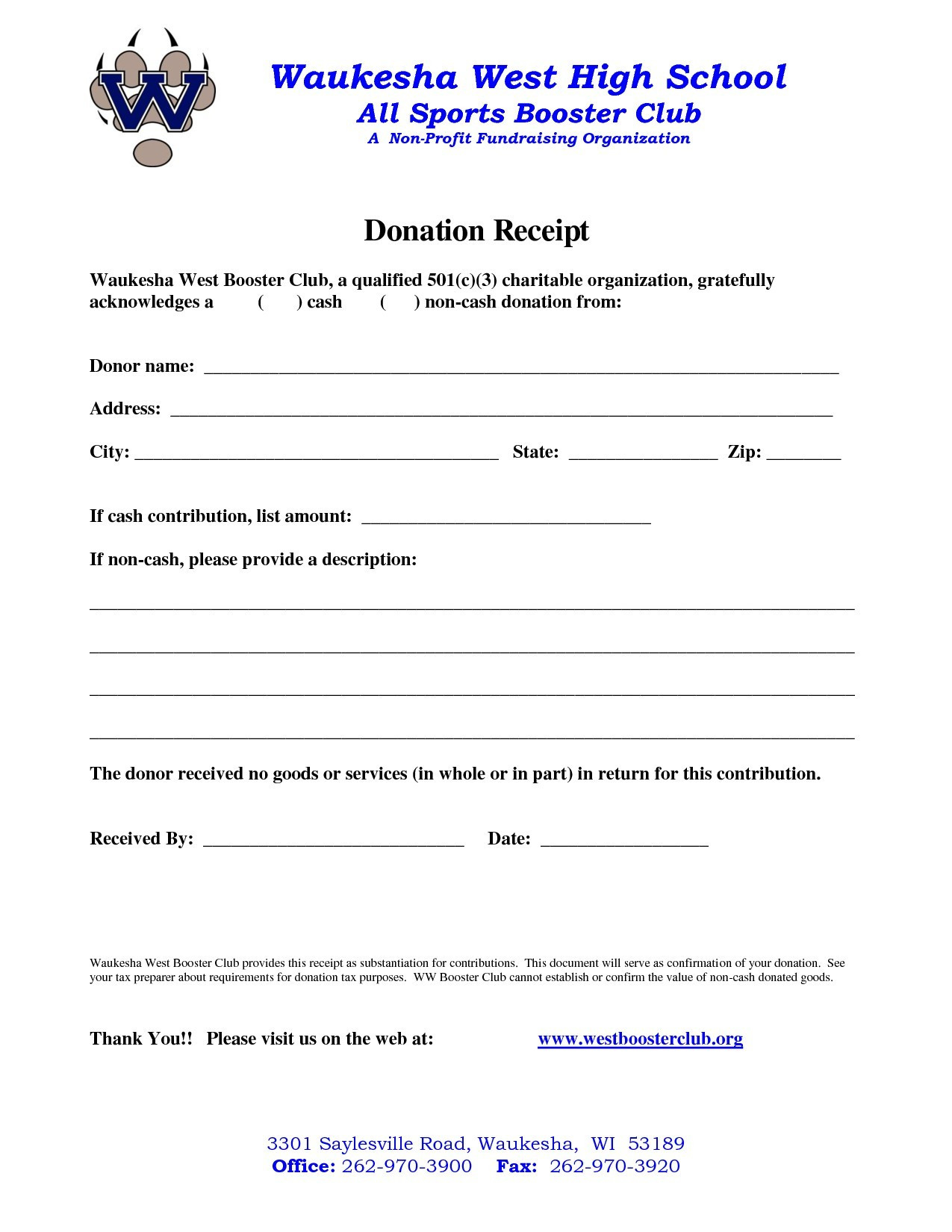 Charitable Donation Receipt Letter Template Samples Letter Cover