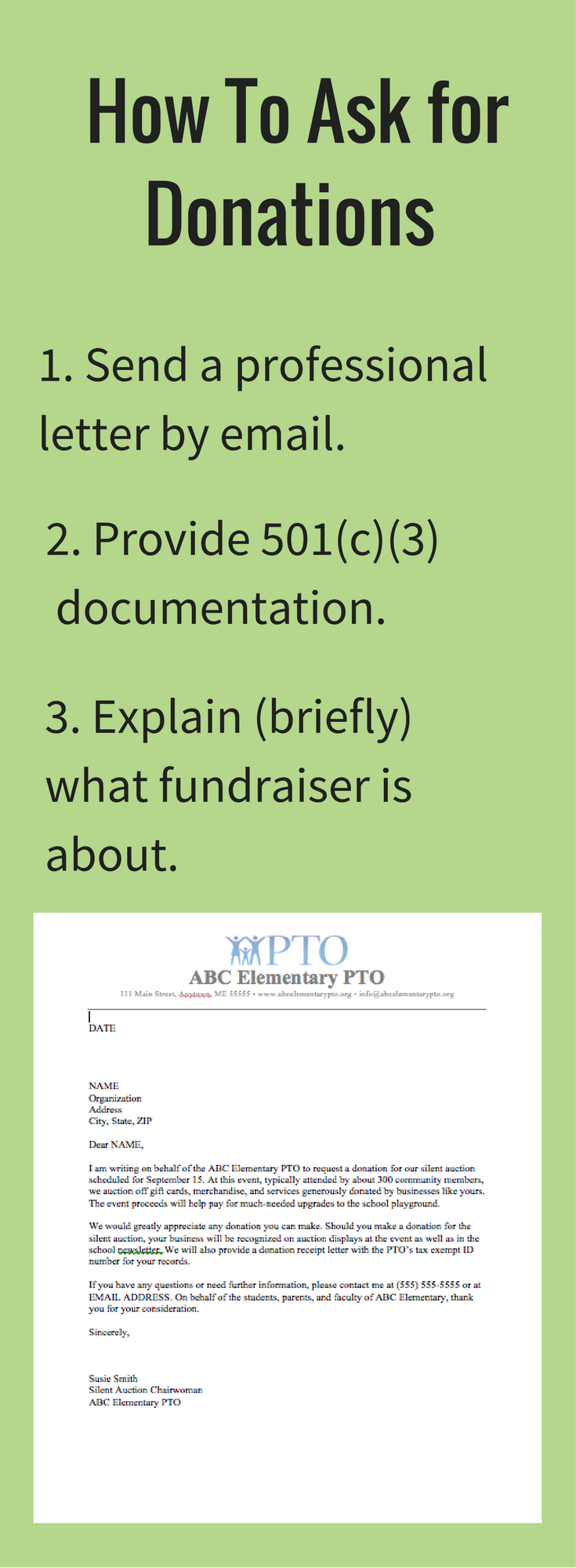 Pta Fundraising Letter Template - Download Our Free Donation Letter Request Template