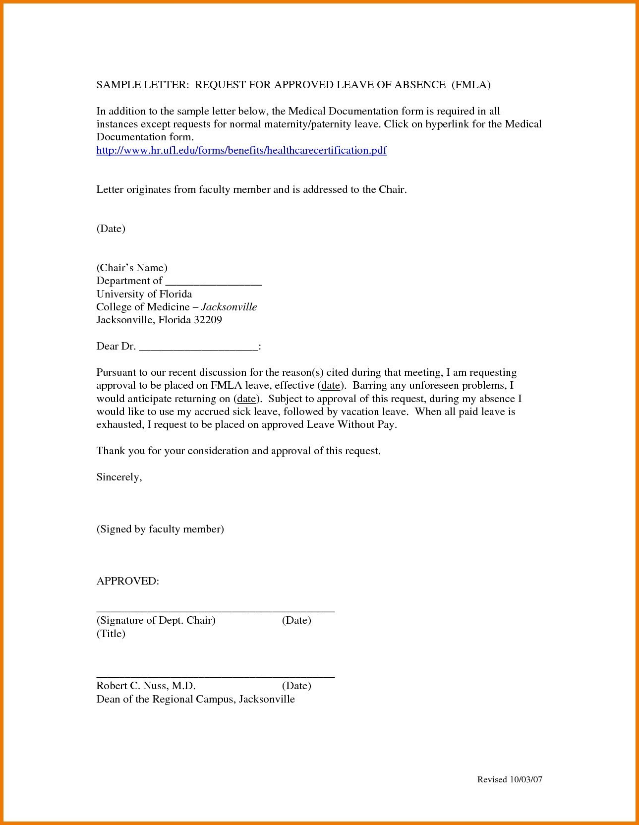 Personal Leave Of Absence Letter Template - Download Sample Medical Certificate for Pregnancy N with Sample
