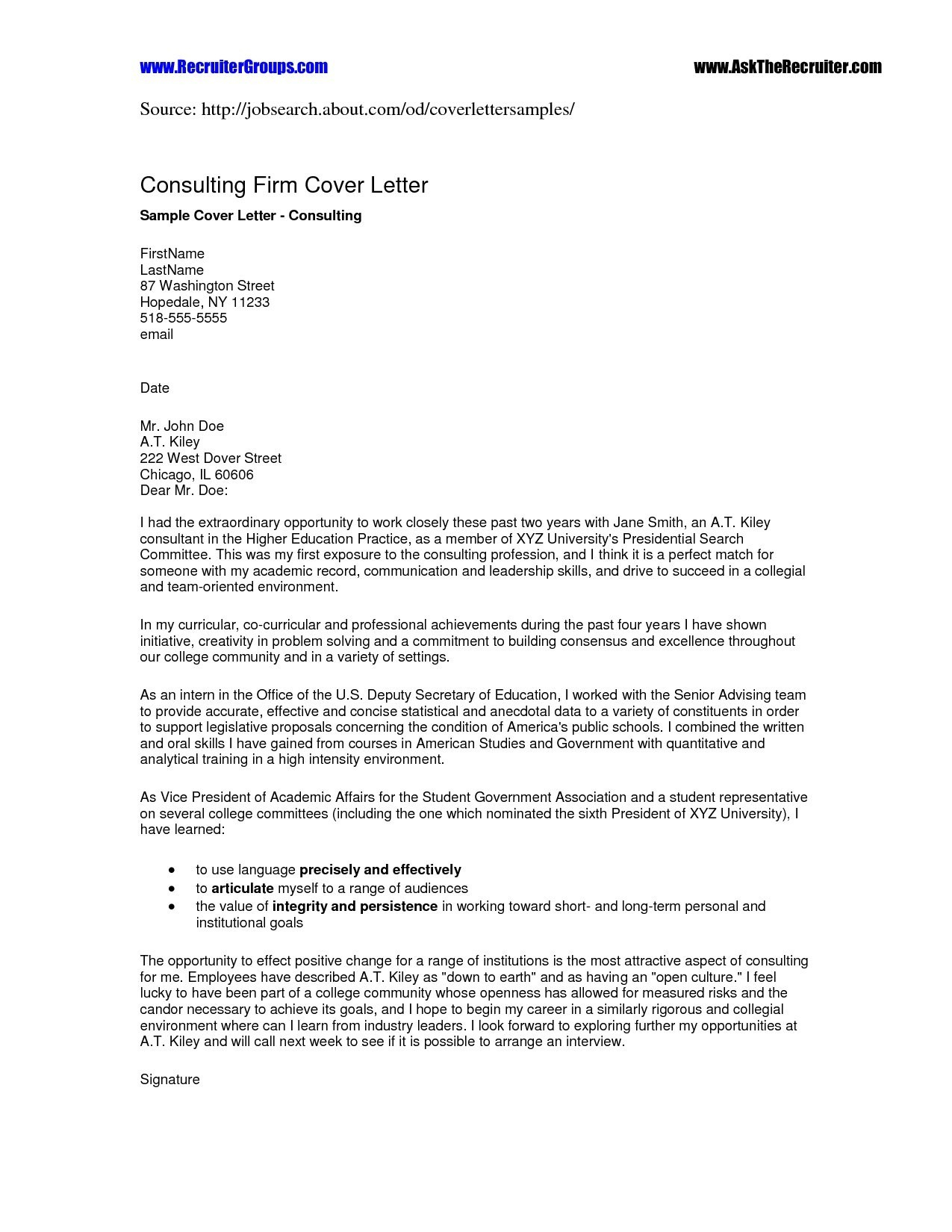 Business Plan Cover Letter Template Samples Letter Cover Templates