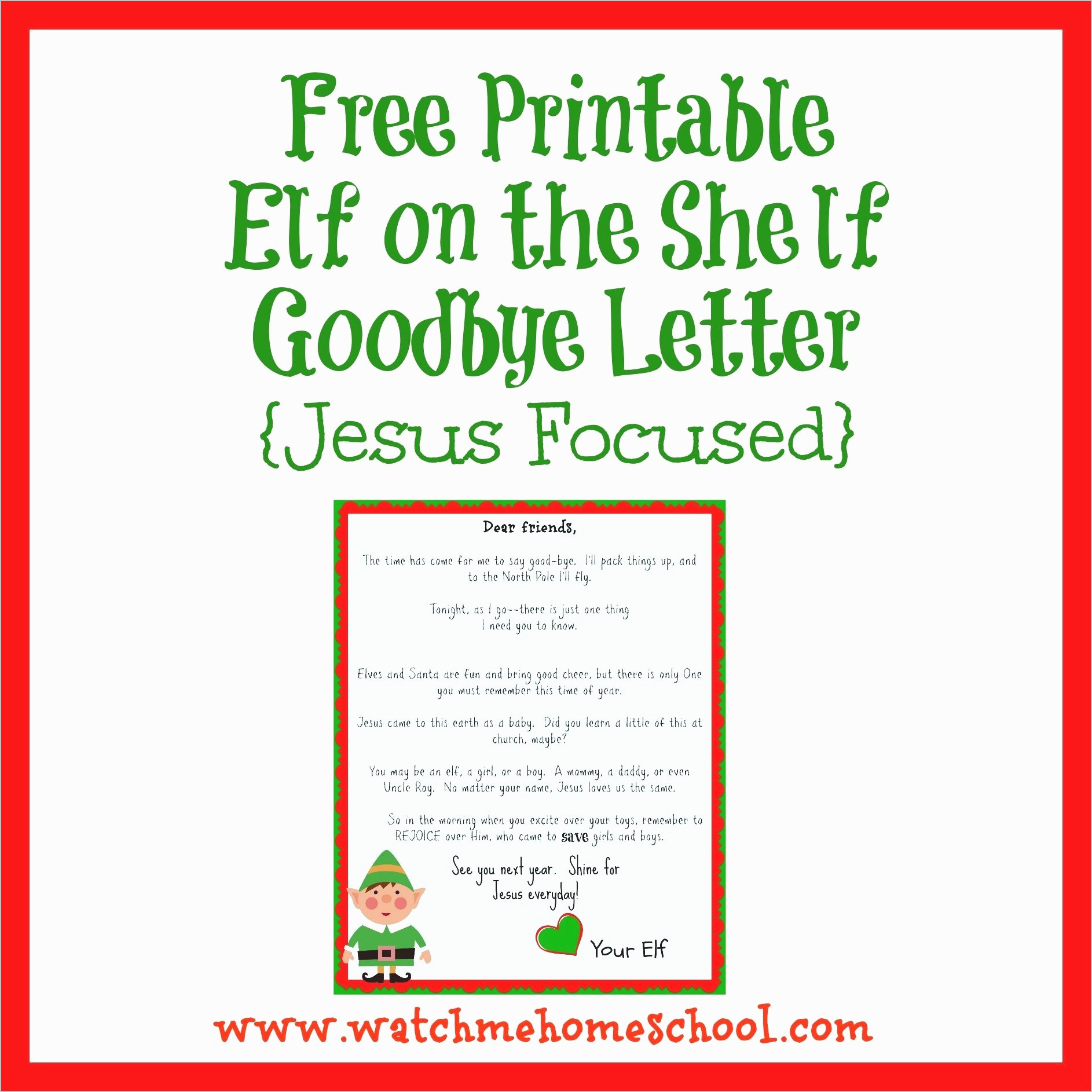 North Pole Letter Template - Elf Goodbye Letter Template Unique Letter From Santa Template Word