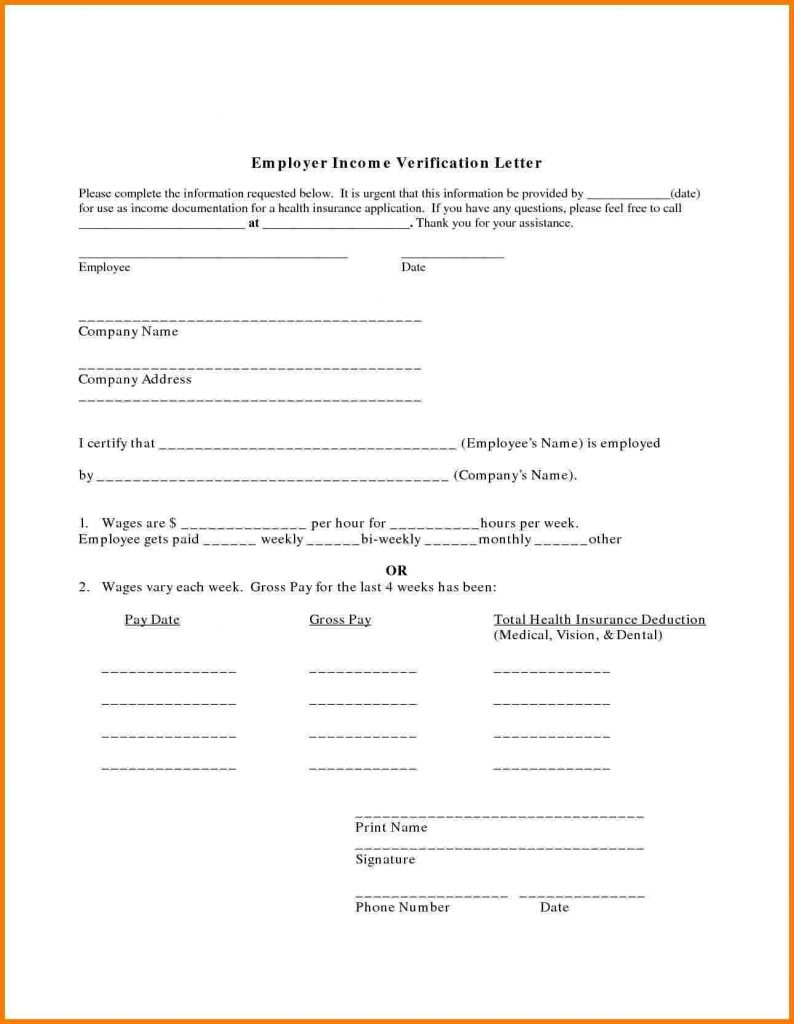 Employment Income Verification Letter Template - Employment Verification Letter Sample Salary Inspirationa Salary