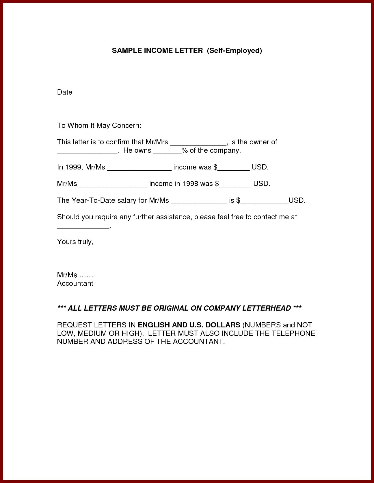 Proof Of No Income Letter Template - Employment Verification Letter Sample Salary New Sample Certificate