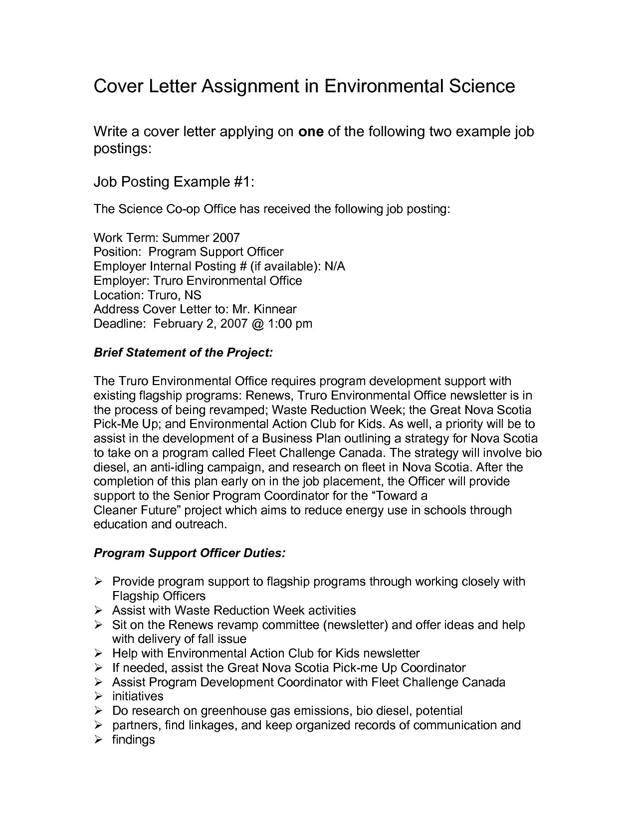 Example Of Cover Letter For Internal Position My WordPress Website