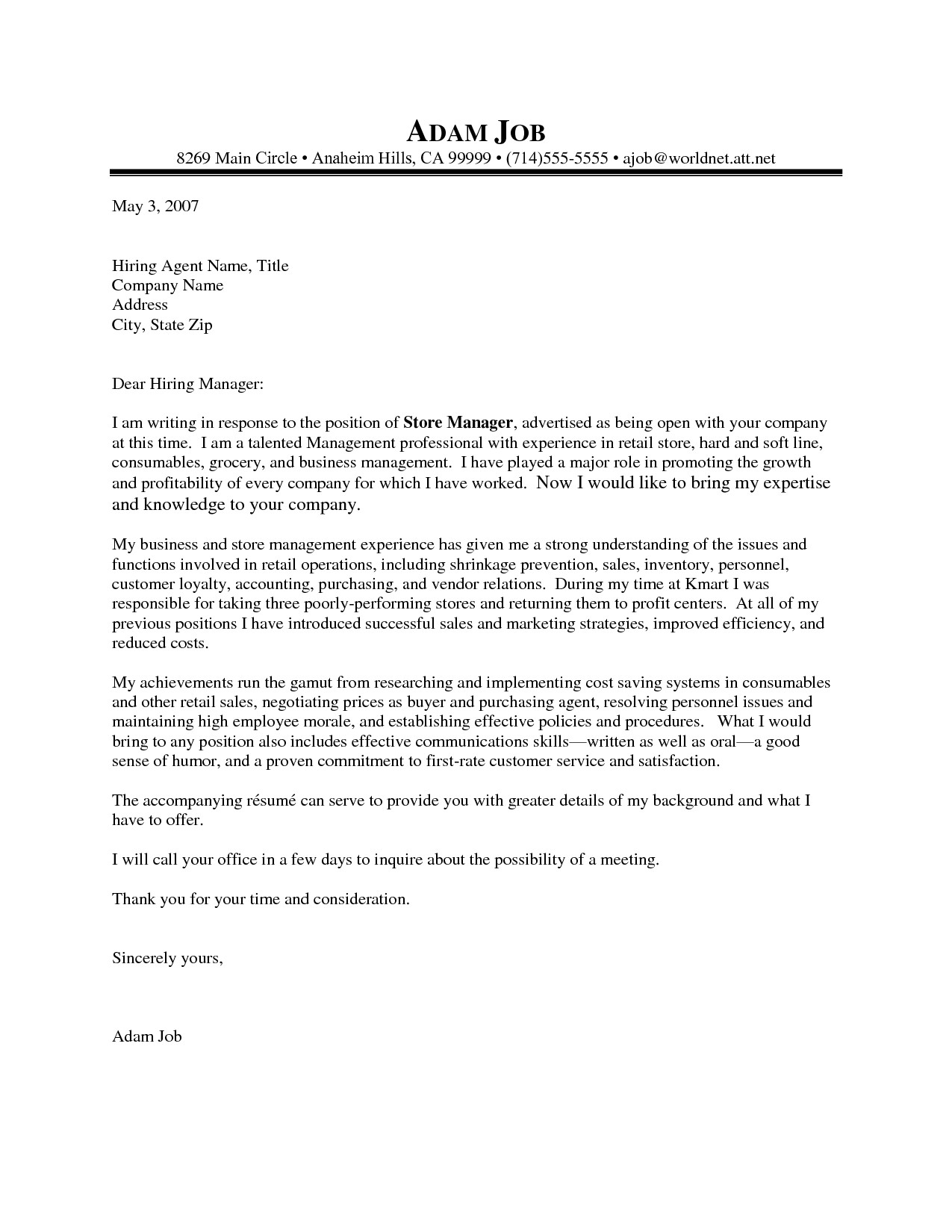 Cover Letter Template Retail Sales assistant - Example Cover Letter for Retail Job New Retail Job Cover Letter