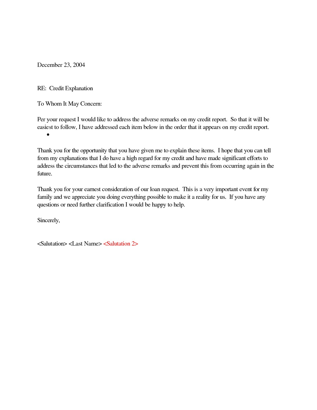 letter of explanation for cash out refinance template