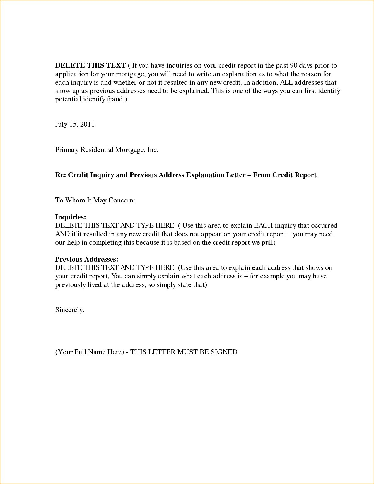 mortgage letter of explanation template example letter explanation job gap mortgage save letter explanation