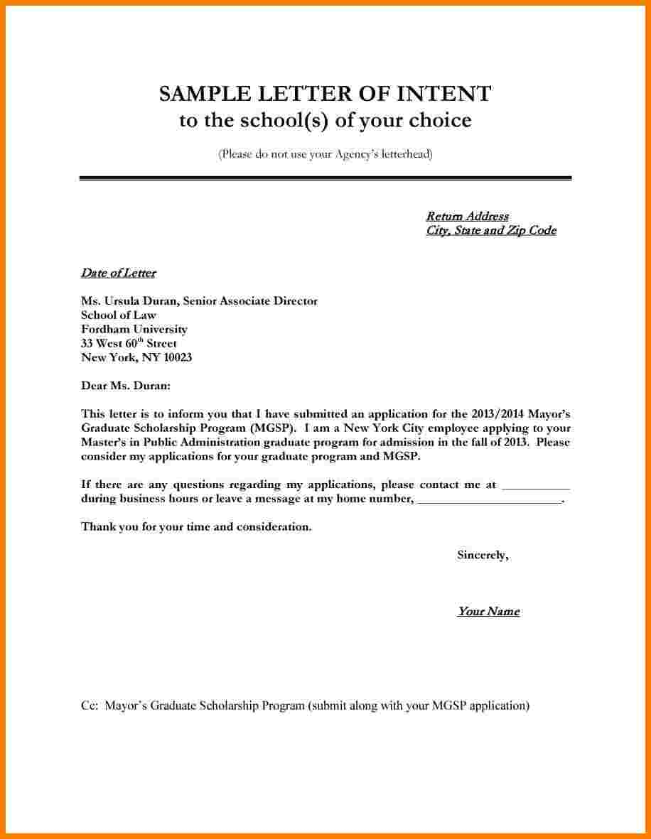 Homeschool Letter Of Intent Template - Example Letter Intent Filename isipingo Secondary Homeschool