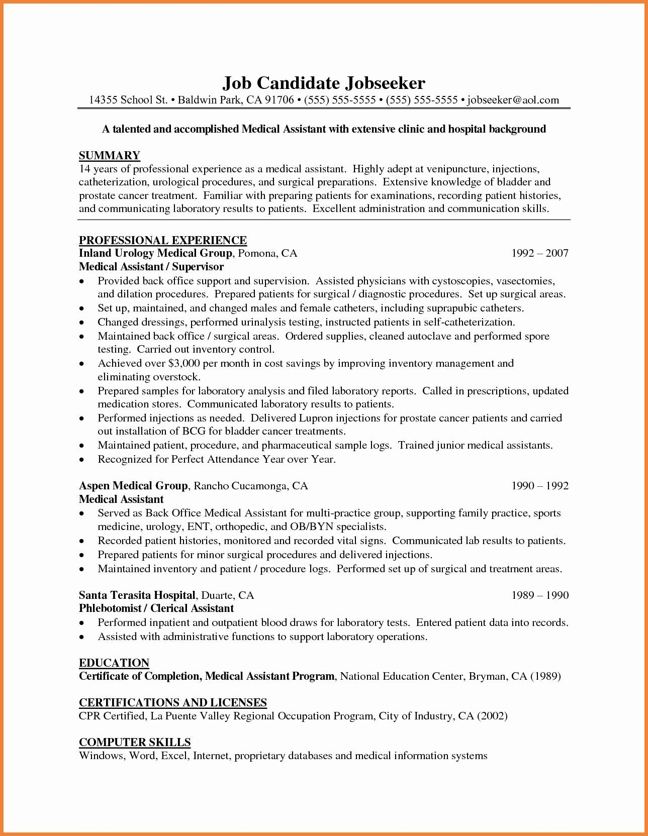 Medical Scribe Cover Letter Template - Examples Cover Letters for Medical assistant Unique Example
