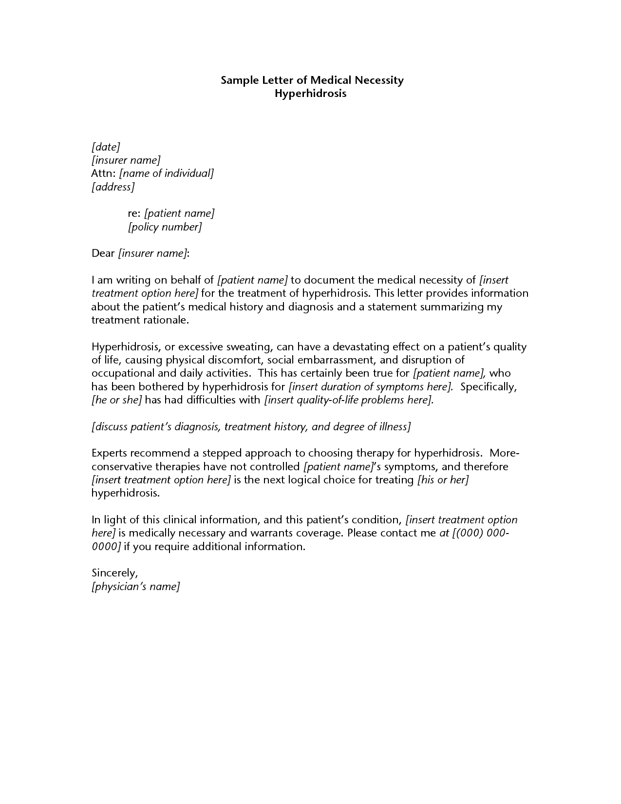 letter of medical necessity for physical therapy template
