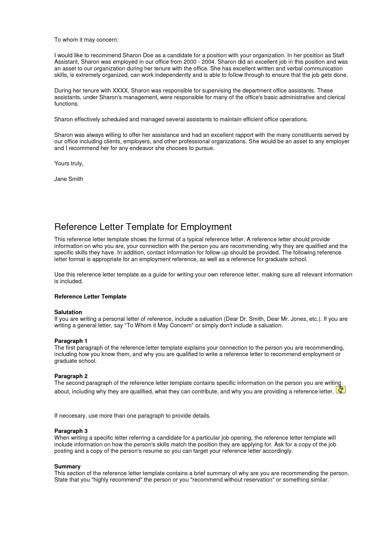 Reference Letter Template Sample - Examples Letter Re Mendation Template