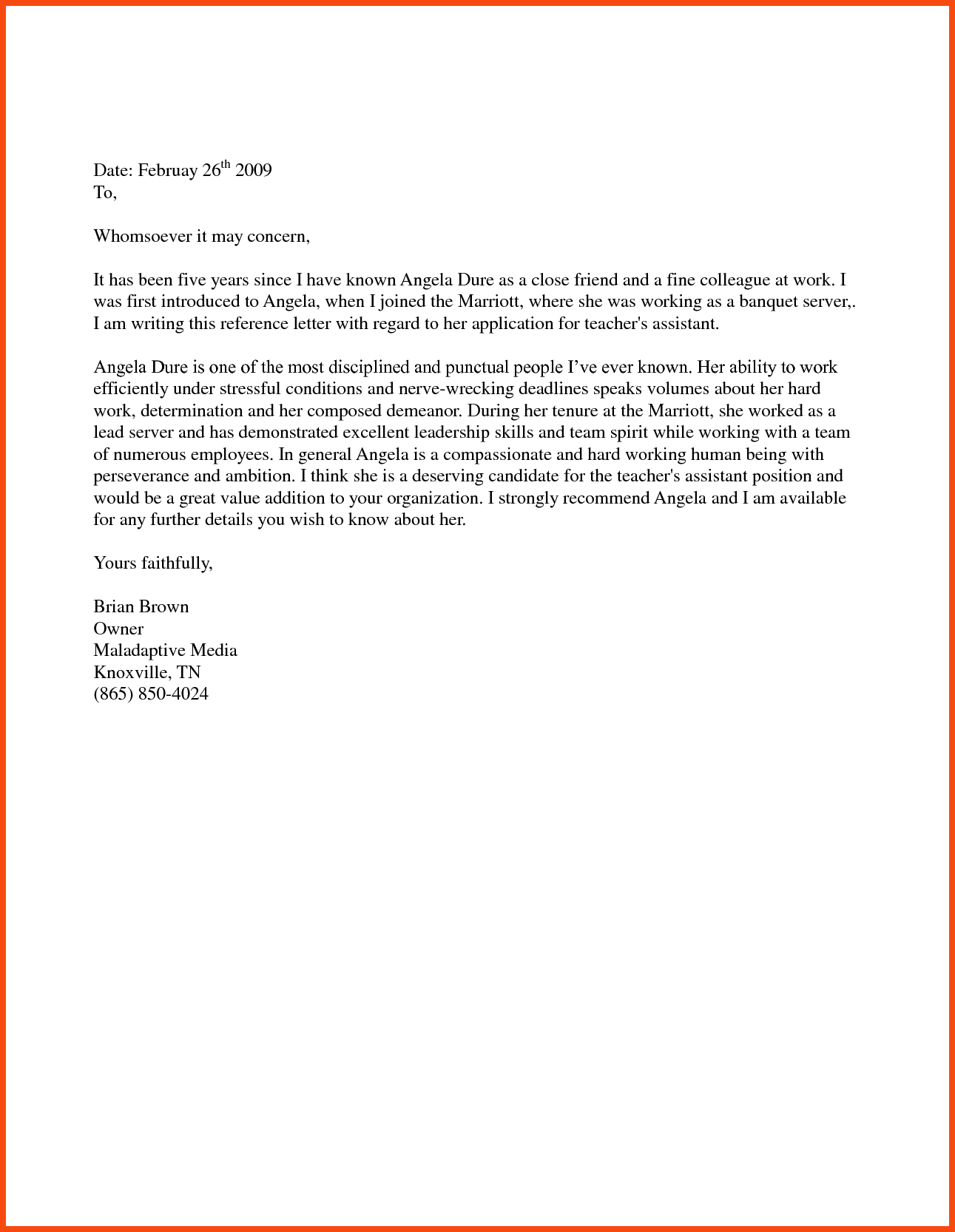 Immigration Recommendation Letter Template - Examples Letters Re Mendation for Immigration S Concept