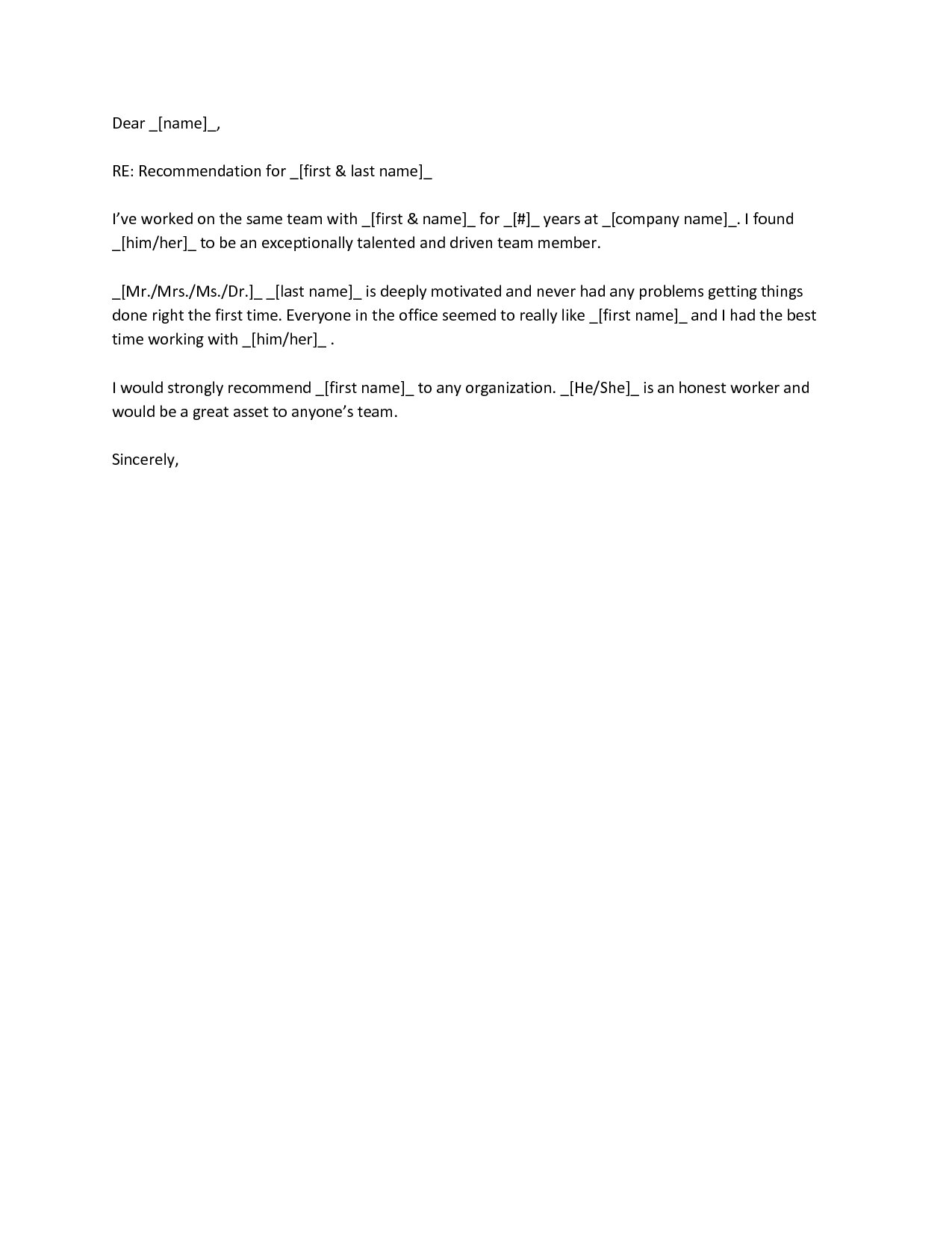 Reference Letter Template for Coworker - Examples Reference Letters for Nurses Gallery Letter format