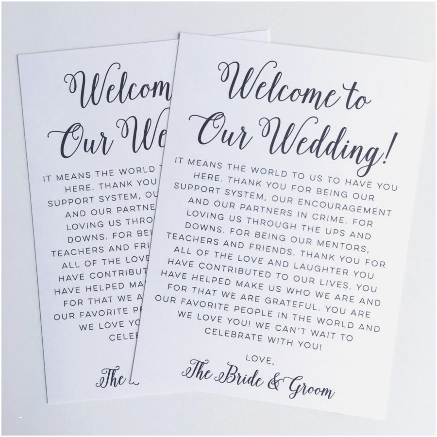 Welcome Letter Template for Wedding Guests - Examples Wedding Thank You Cards Busstopopera