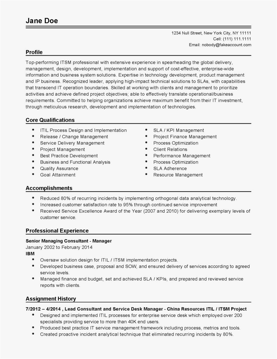 Free Resume Cover Letter Template Download - Excellent Resume Examples New Hr Resume Examples Unique Od