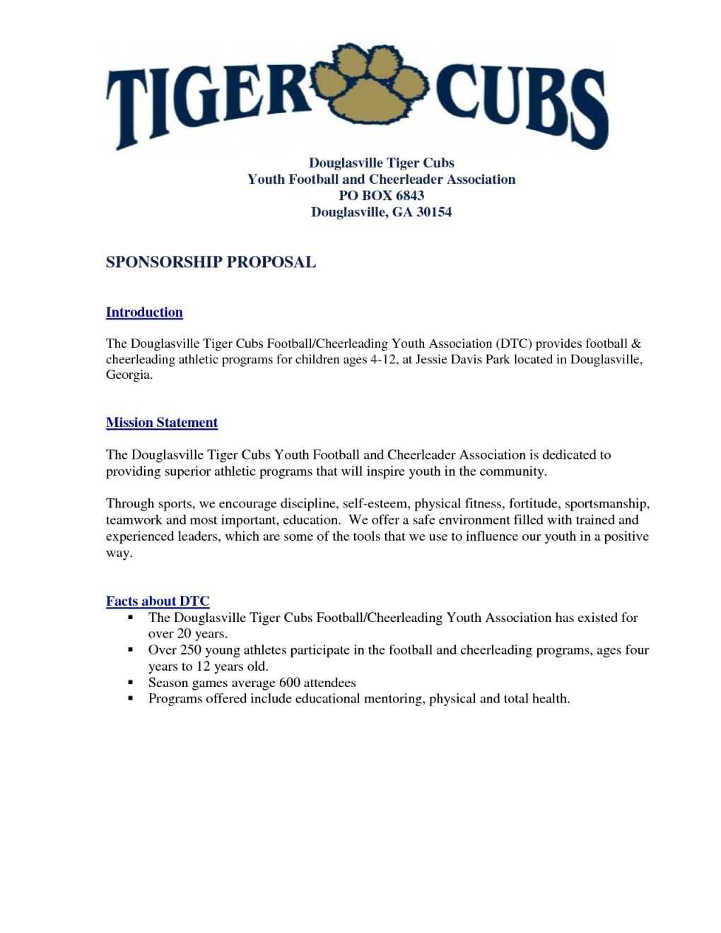 Youth Football Sponsorship Letter Template - Fabulous Sports Sponsorship Proposal Template Ch06 – Documentaries