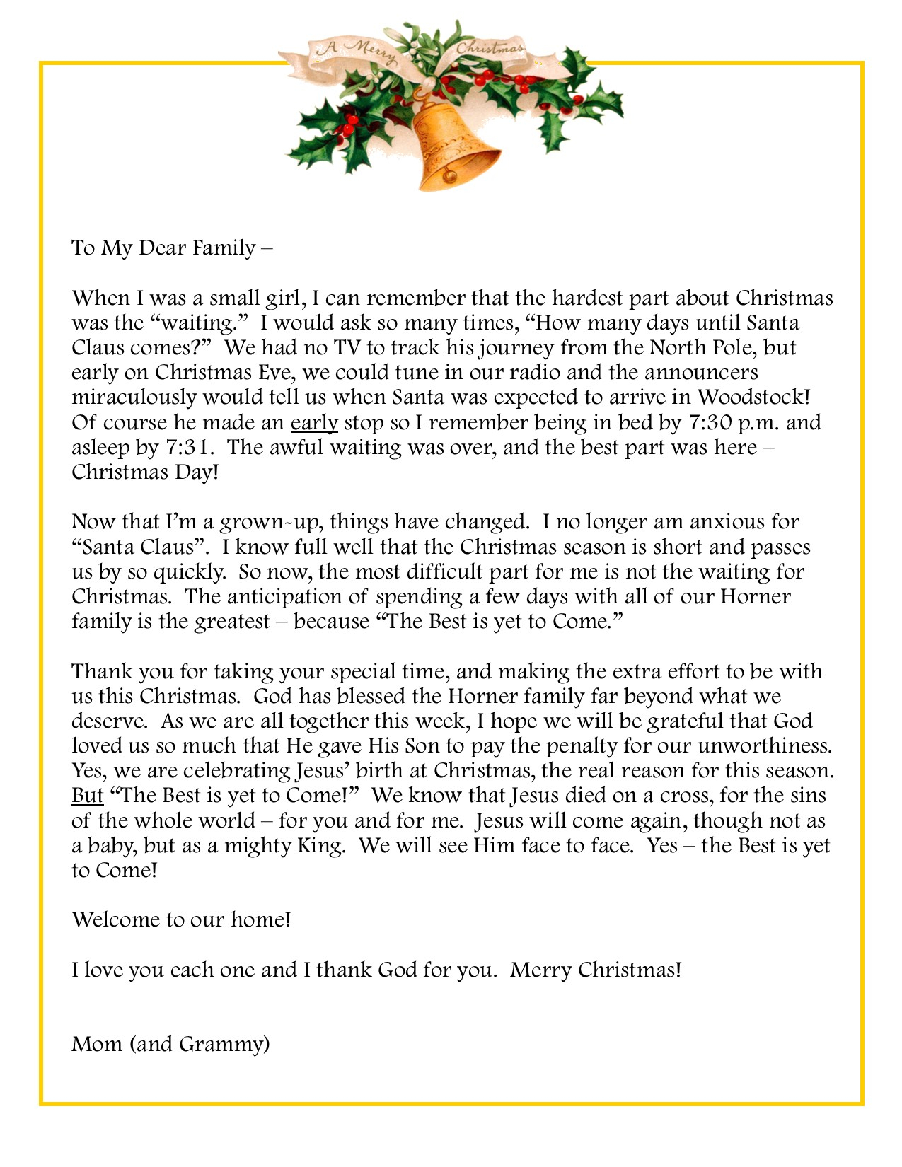 Family Christmas Letter Template - Family Reunion Interest Letter Choice Image Letter format formal