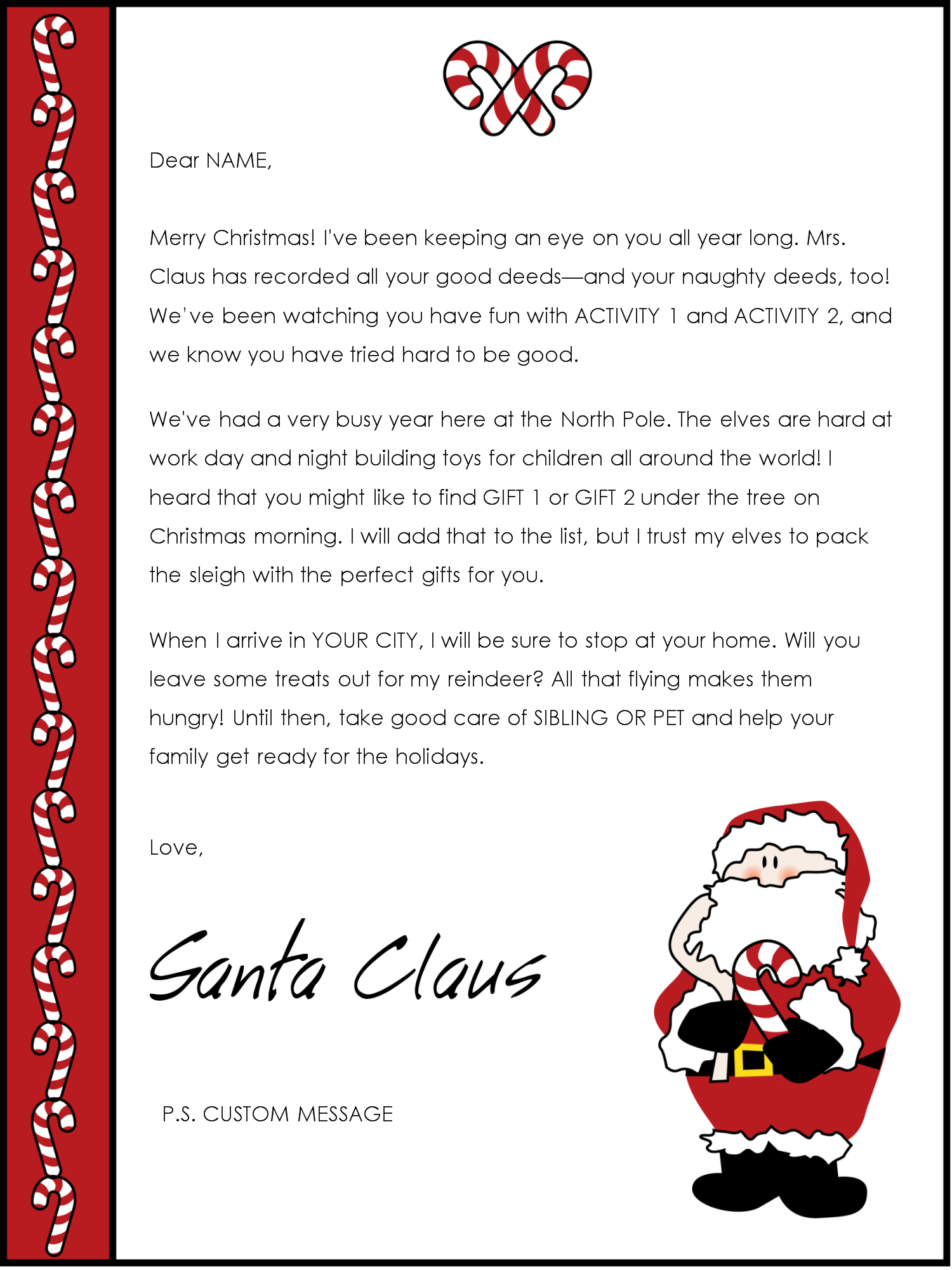 custom letter from santa template example-father christmas letter template 10-g