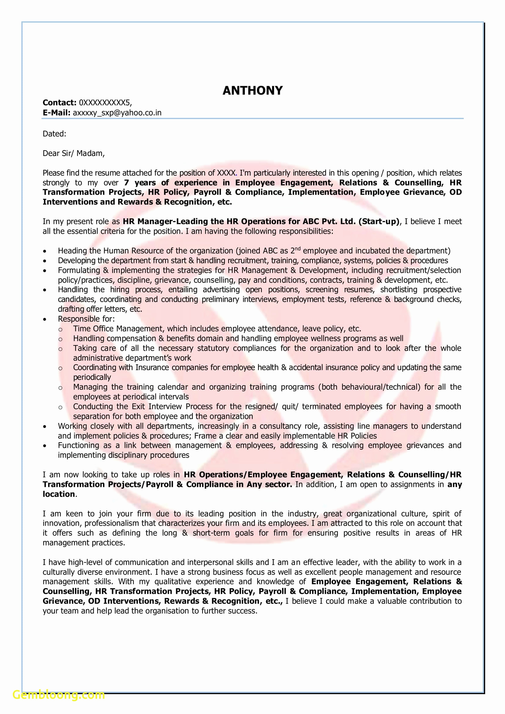 Startup Offer Letter Template - Fax Cover Letter Template Fresh Best Free Cover Letter format