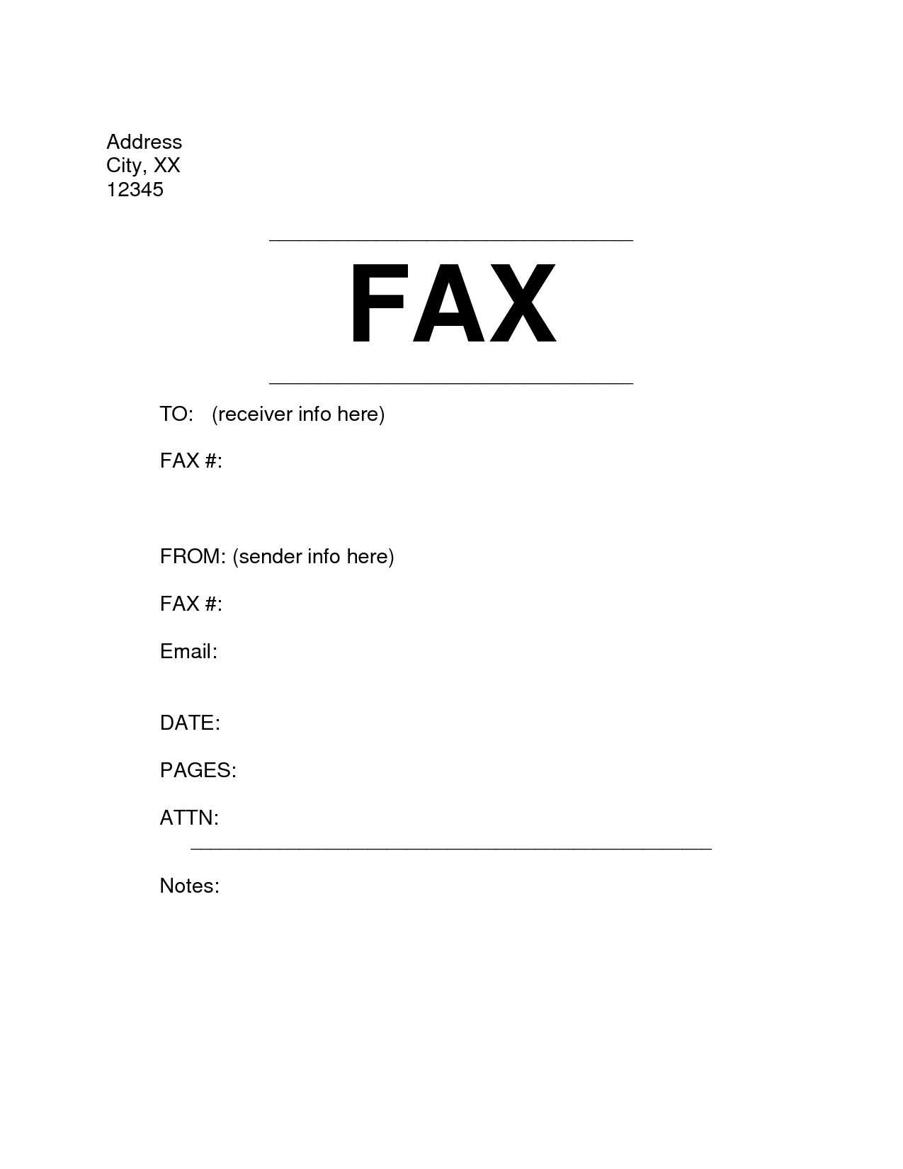 Microsoft Word Fax Cover Letter Template Examples | Letter Cover ...