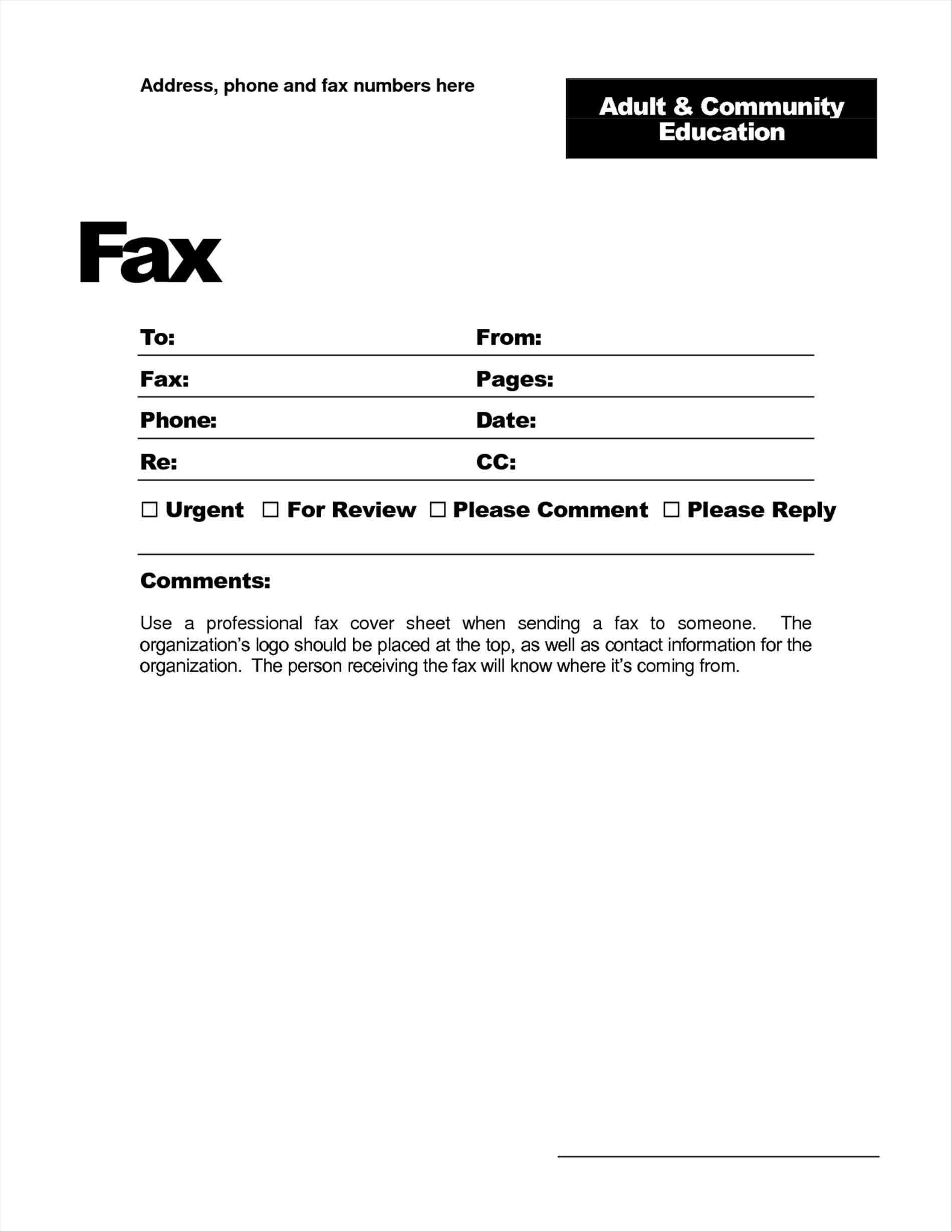 Free Printable Fax Cover Letter Template - Fax Header Template Word Fresh Showbizprofile Page 11 S