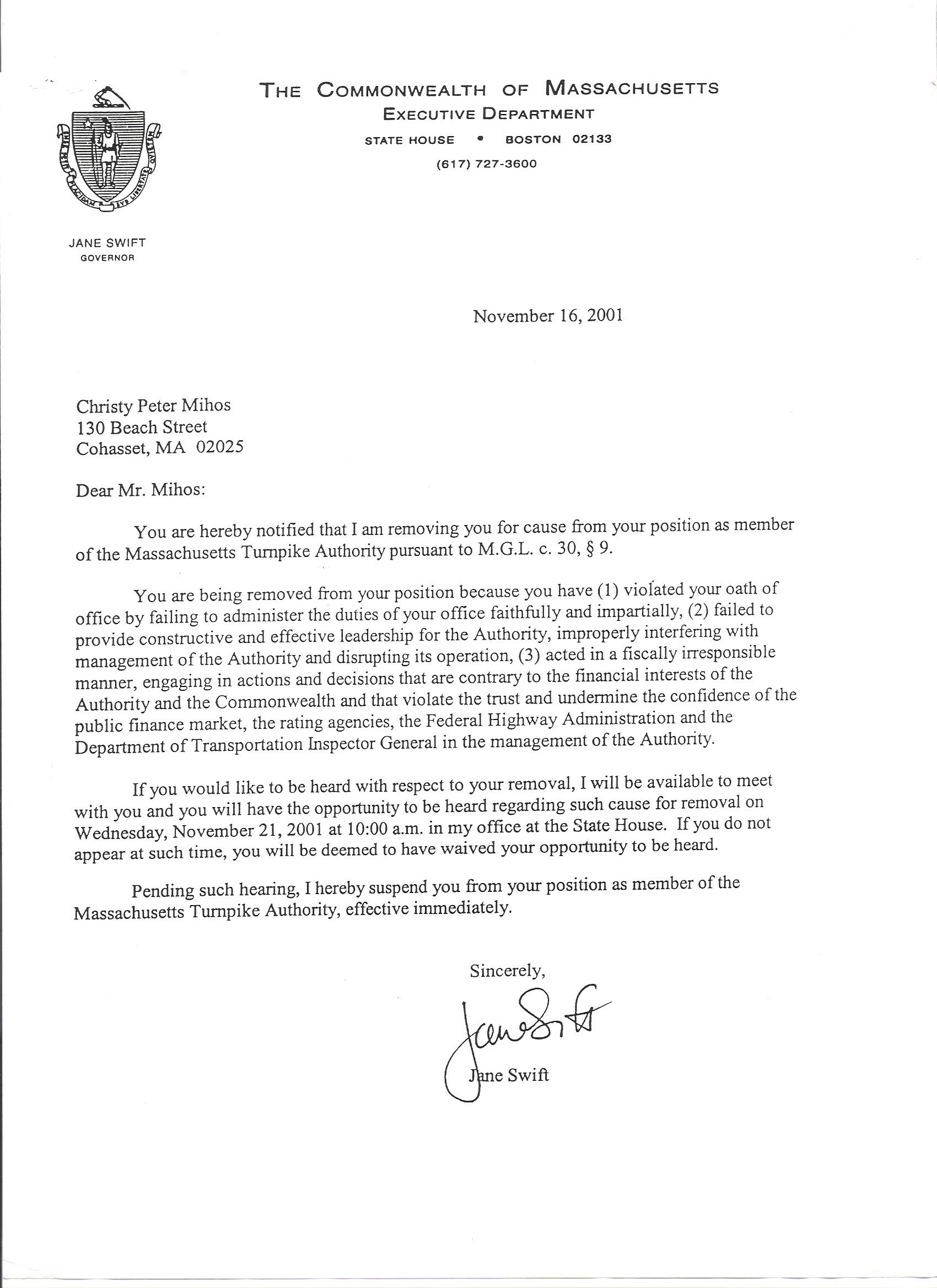 Public Record Removal Letter Template - Ficial Letter Removal From Jane Swift Rotten to the