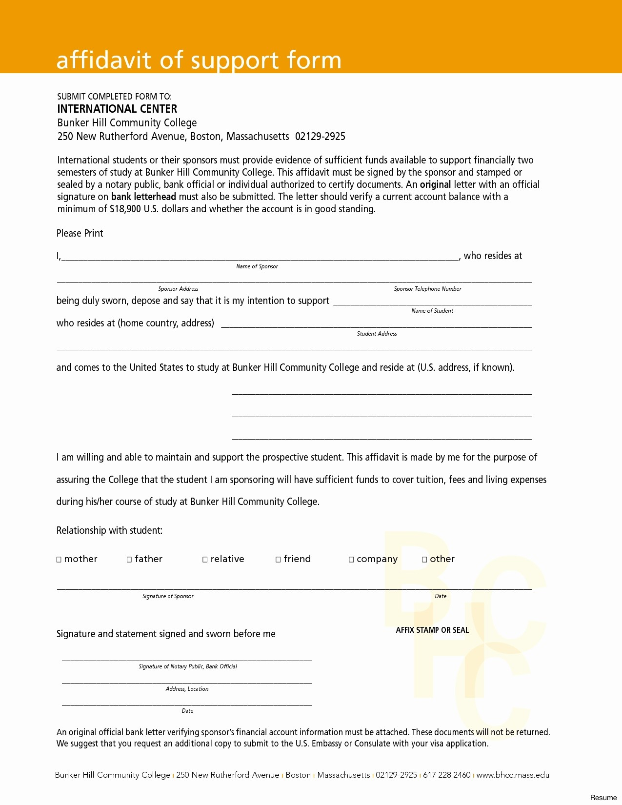 Affidavit Of Support Template Letter Samples | Letter Cover Templates