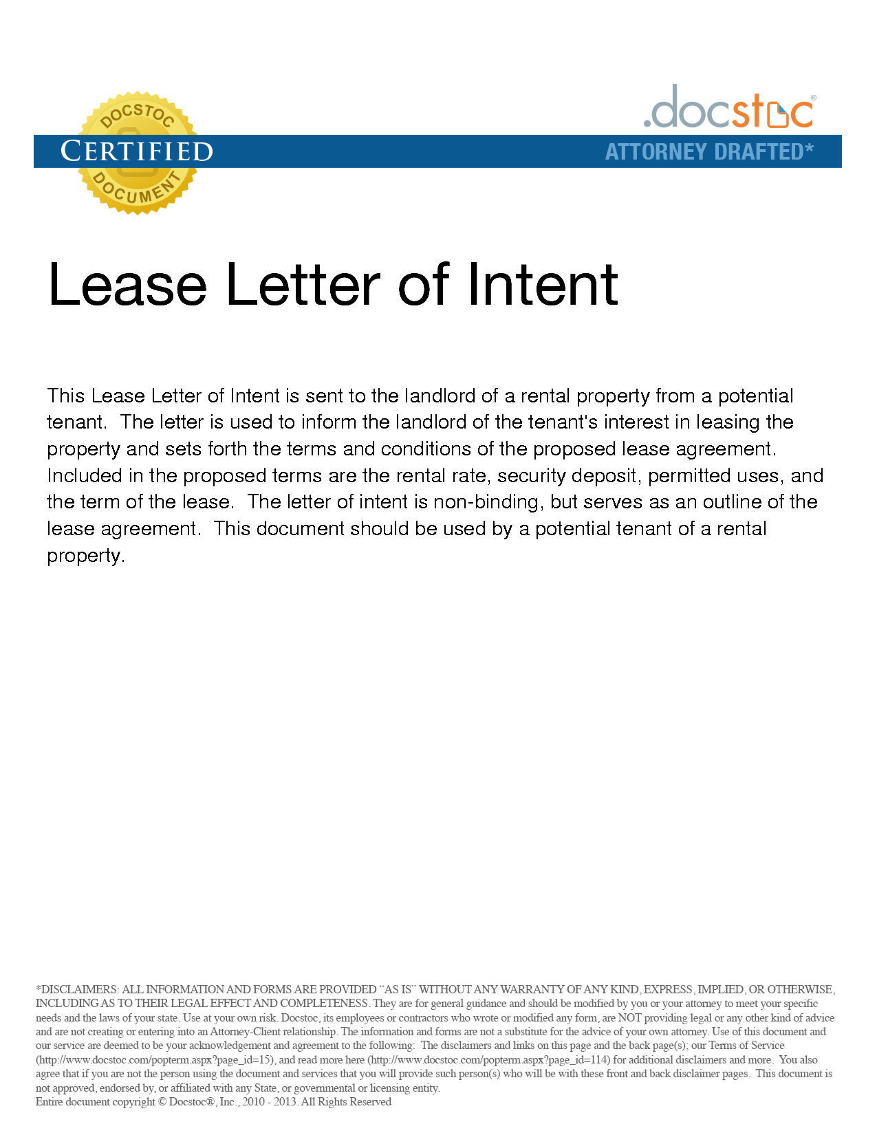 Commercial Lease Letter Of Intent Template - form Of Letter Of Intent Acurnamedia