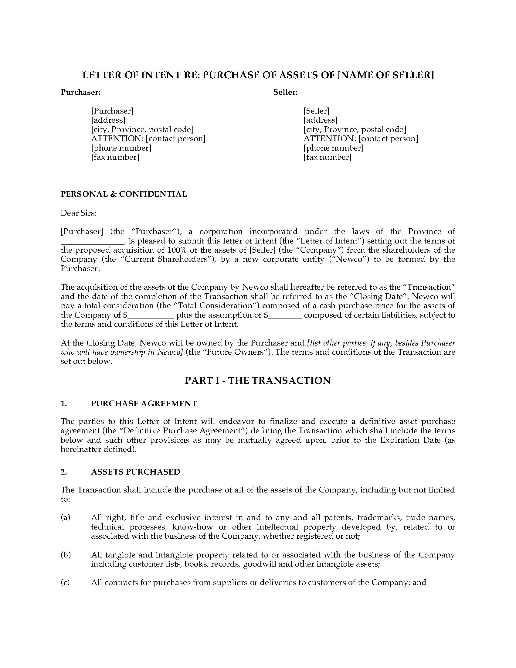 Joint Venture Letter Of Intent Template - form Of Letter Of Intent Acurnamedia