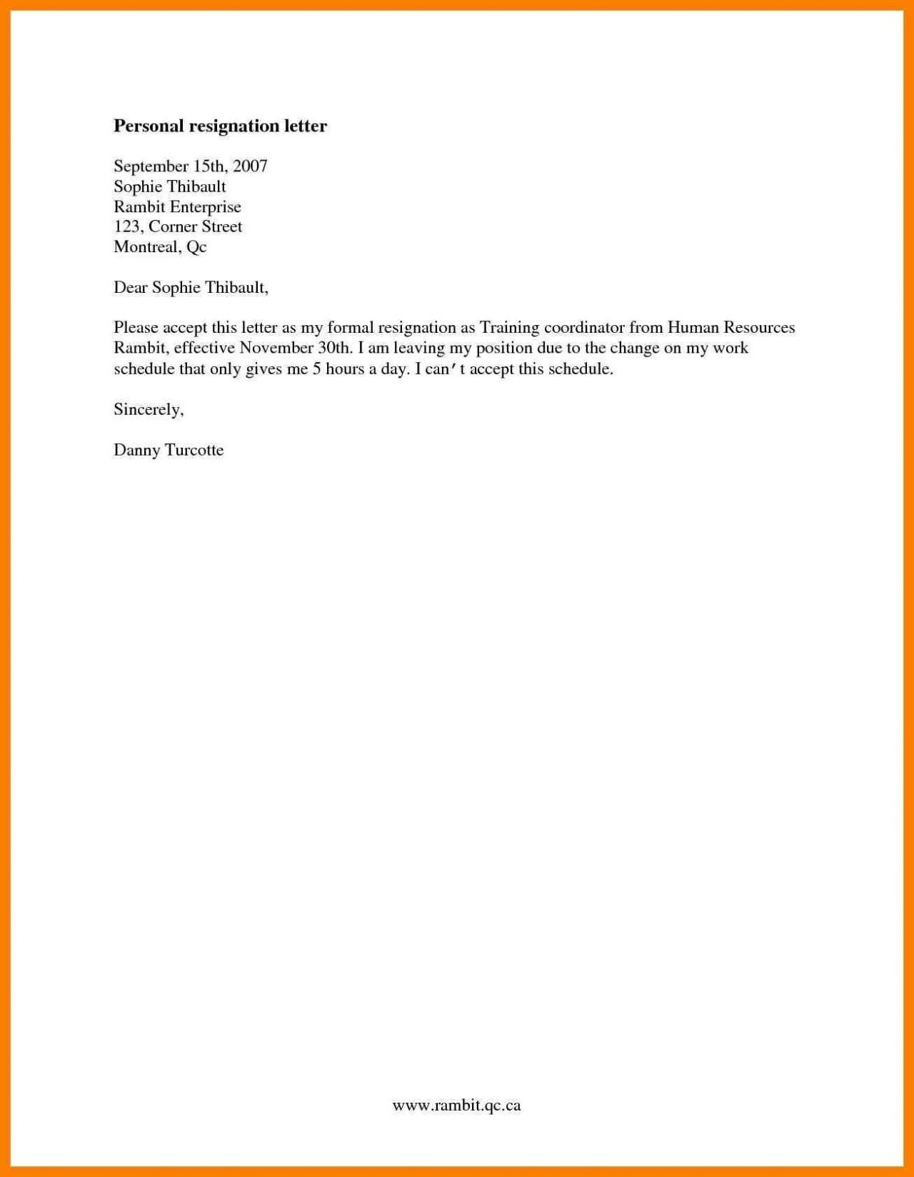 Notice Letter Template - formal Resignation Letter Template E Month Notice Copy Cards
