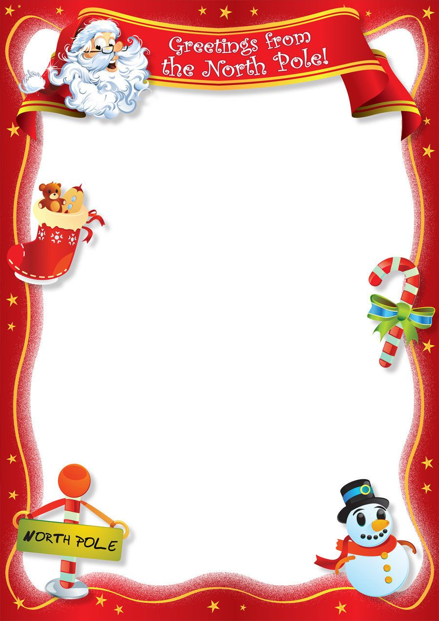 Christmas Letter Border Template - Free Blank Letter From Santa Template New Calendar Template Site