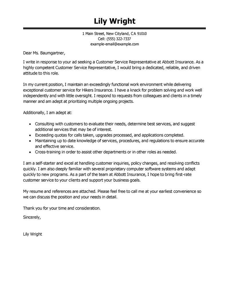 Cute Cover Letter Template - Free Cover Letter Examples for Resume Cover Letter for Resume